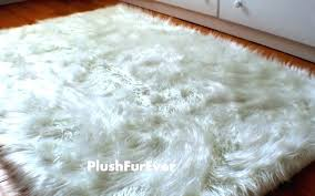 large faux fur rug black grey sheepskin luxury prefeial fake rugs accent fa area lovely excellent