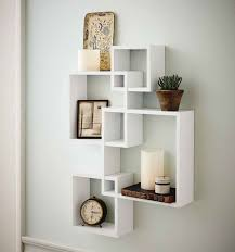 Cube Wall Shelf Intersecting Boxes Shelves Decor Floating Storage Display  Accent