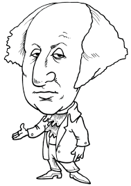 Small Picture George Washington Caricature coloring page Free Printable