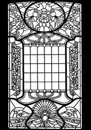 Bolcom Art Nouveau Windows Stained Glass Coloring Book Albert G