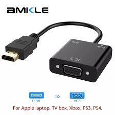 Amkle Cáp Chuyển Đổi HDMI Sang HDMI VGA Cáp Chuyển Đổi Hỗ Trợ 1080P Với Cáp  Âm Thanh Cho HDTV Xbox PS3 PS4 Laptop Tivi Box|cable hdmi|hdmi to vgahdmi  to vga converter -