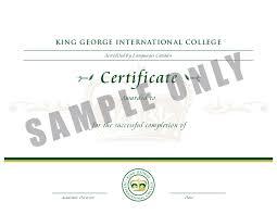 Certificate Diploma Samples