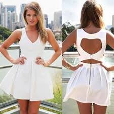 White High Neck Sleeveless Halter Cutout Back <b>Double Layered</b> ...