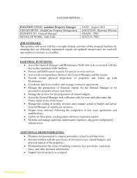 Property Manager Resume Objective Popular 23 Property Manager Resume