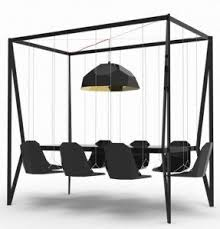 Black hanging dining chair modern unique furniture ideas
