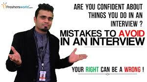 Mistakes To Avoid In An Interview By Freshers Interview Tips