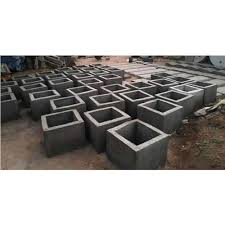 gray square cement pots for garden
