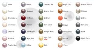 Pearl Color Chart Swarovski 5810 Round Pearls Pewter Of Sweden