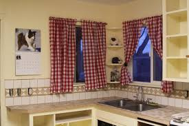 Red Plaid Kitchen Curtains Red And White Country Kitchen Curtains Cliff Kitchen