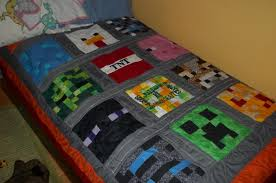 Look What Ive Made - Projects - Other - Original MineCraft Quilt & ... Original MineCraft Quilt Adamdwight.com