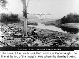 The Ruins Of The South Fork Dam And Lake Conemaugh The Line
