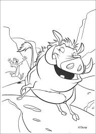 Small Picture Timon chasing pumbaa coloring pages Hellokidscom