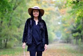 black faux fur coat switzerland fashion blog