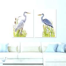 heron canvas wall art seas prints framed ls for living room