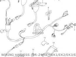 suzuki dr z400 2000 y usa e03 drz400 dr z400 parts lists and wiring harness dr z400ey ek1 ek2 ek3 ek4