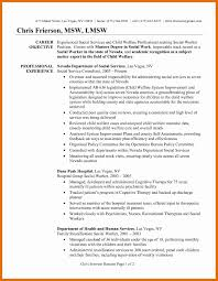 Resume Objective Sample For No Experience New 6 7 Social Worker