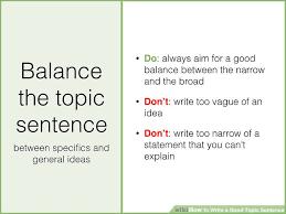 how to write a good topic sentence sample topic sentences image titled write a good topic sentence step 5 jpeg