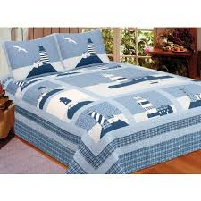twin size quilt. Brilliant Twin Lighthouse Quilt Set  Twin Size Includes Sham Inside R