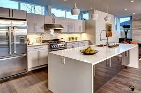 Big Kitchen Island With Sink And Storage Also A Big Fridge