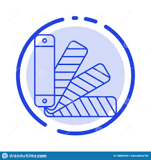 Color Pallet Pantone Swatch Blue Dotted Line Line Icon