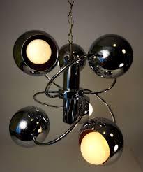 atomic lighting. brilliant lighting vtg mcm 60s70s atomic space age sputnik chrome balls swag ceiling fixture  lamp inside atomic lighting