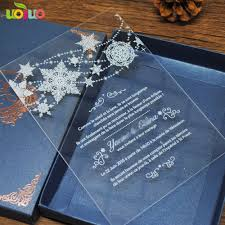Elegant Invitation Cards Us 65 0 Elegant Fancy Unique Acrylic Invitation Card With White Words Wedding And Party Favor Royal Wedding Invitation Card In Cards Invitations