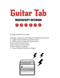 Amazon Com Guitar Tab Notebook Standard Tablature Staves
