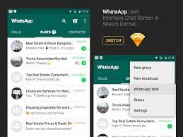 WhatsApp Android Chat UI Sketch Freebie – UXFree.COM