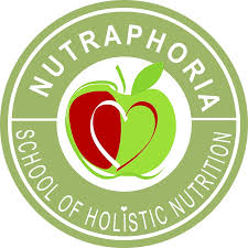nutraphoria of holistic nutrition logo light green transpa red copy