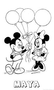 Maya Mickey Mouse Naam Kleurplaat