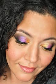 sti schroeder b side purple and gold makeup inspration featuring stilazzi eyeshadow painted las