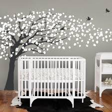blossom tree elegant style wall decal modern nursery decor on tree wall art for baby nursery with 34 white tree wall decals for nursery nursery wall decal white tree