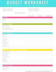 Excel Spreadsheet Download Free Free Budget Worksheet Excel Free