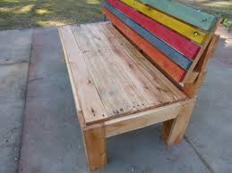 pallet outdoor bench diy. Diy Pallet Bench With Back Outdoor A Comfort | 99 Pallets
