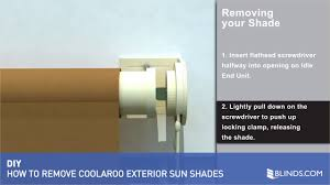 coolaroo exterior roller shades. coolaroo exterior sun shade removal \u0026raquo; solar shades - how to remove video gallery roller