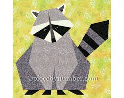Animal Quilt Patterns Simple Raccoon Quilt Block Pattern Paper Pieced Quilt Patterns