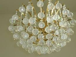 austrian vintage crystal ball chandelier attributed to swarovski for