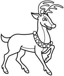 Small Picture Reindeer Coloring Pages Free Printable Coloring Pages