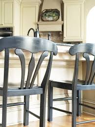Table And Stools For Kitchen Chair Makeover Black Bar Stools Become White Table Chairs The