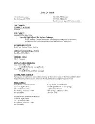 Resume Templates Cook Assistant