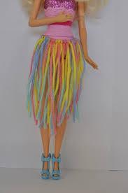 diy barbie clothes wool hula skirt