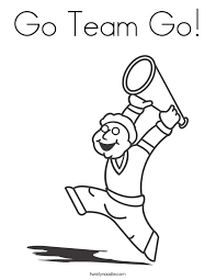Small Picture Cheerleader Coloring Pages Twisty Noodle