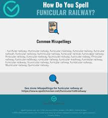 An alphabet developed by the international phonetic association to provide suitable symbols for the sounds of any language. Correct Spelling For Funicular Railway Infographic Spellchecker Net