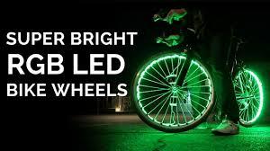 Lights On Wheels Of A Bicycle Putting 200 Rgb Led Lights Onto Bike Wheels