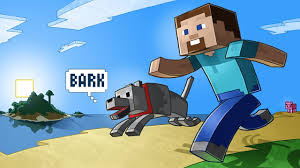 Small Picture Minecraft Steve and His Dog YouTube