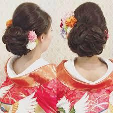 結婚式の前撮り 和装ロケーション撮影のお客様 下めにまとめた和髪