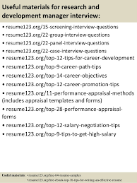 resume objectives for managers top 8 research and development manager resume samples