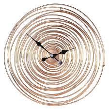 large copper wire swirl wall clock skeleton uk