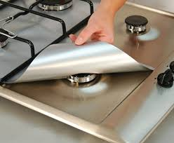 gas stove burner cover. Unique Stove 4PCS NonStick Gas Range Protectors Reusable Aluminum Foil Stove Burner  Cover Protector Liner Clean Mat Pad Silver  India Best Coupon Offers And  Intended M