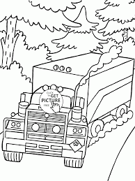 Small Picture Truck Mack on the Road coloring page for kids transportation